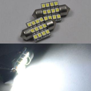 LED Bulbs 31mm Festoon 12 SMD Car Interior Dome Map Lights