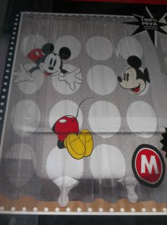 Disney Mickey Mouse Vinyl Bathroom Shower Curtain 72 x 72 Kids