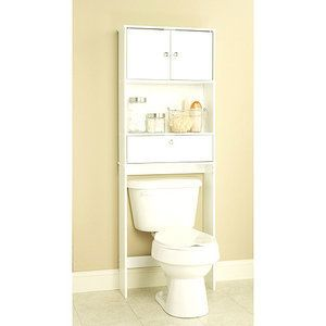 Bath Room Bathroom Cabinet Drop Door Towel Toilet Storage Shelf