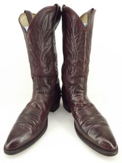 Cowboy Boots Black Cherry Leather Dan Post 11 B Western Classic