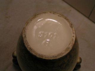 antique 2 handled mottled majolica vase sealed