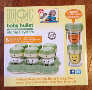 magic baby bullet homemade baby food storage containers date dial cups freezer. Black Bedroom Furniture Sets. Home Design Ideas