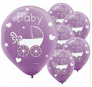 Purple Baby Carriage Balloons   Pack of 20   For Baby Shower