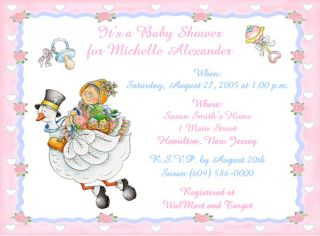 Nursery Rhyme Designs Personalized Baby Shower Invitations w/Envelopes