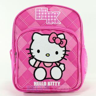 Sanrio Pink Argyle Print 10 Toddler Mini Backpack Girls Bag
