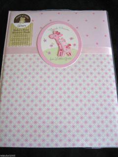 Heaven for Little GIRL Baby First Memory Record Book Album GIRAFFE