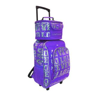NEW CUTIE PATOOTIE WHEELED BACKPACK WITH LUNCH BAG ROLLING CARRY ON