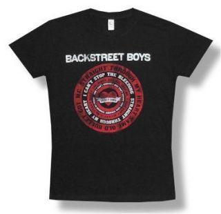 BACKSTREET BOYS SOLDIER DOWN BABYDOLL T SHIRT NEW JUNIORS GIRLS LARGE