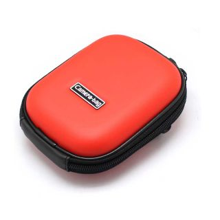 Mini Universal Digital Camera Hard Carry Case Pouch Red