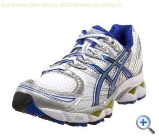 Womens Asics Gel Nimbus 12 Running Shoes White Delphinium Kiwi