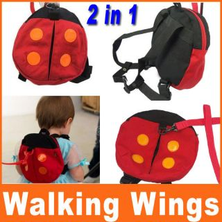 Baby Toddler Safety Harness Ladybug Bag Backpack Strap Anti Lost