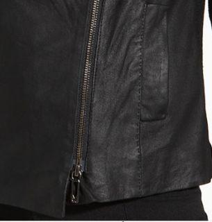 Vince Scuba Leather Assymetrical Jacket L $1250 Ashley Greene Twilight
