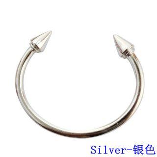 Mirrored Gold Silver Metal Spike Rivet Cuff Bracelet Bangle