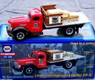 First Gear NAPA #3 75th Anniv 1949 Intl KB 8 Half Rack Stake Truck w