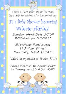 12 personalized baby shower invitations twins