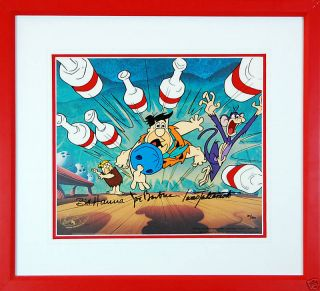 Hanna Barbera The Flintstones Kingpin Ltd Ed Orig Cel