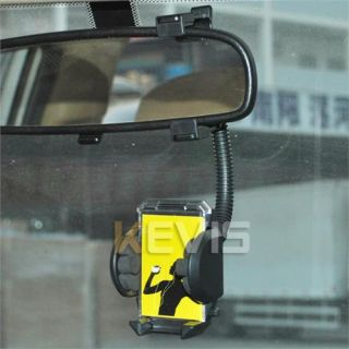 Universal Rearview Mirror Car Mount Holder for Samsung Galaxy Note II