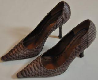 GUC BCBGirls Purple Lavender Snake Skin Print Pointy Toed Pumps Heels