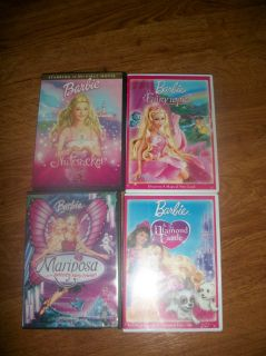BIG LOT BARBIE MOVIES Barbie Nutcracker Marisposa Fairytopia Diamond