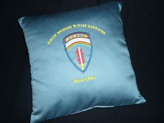 100 Original McNair Barracks Curtain US Army Berlin Brigade Pillow