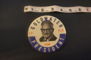 For President Barry GOLDWATER 1964 Political Campaign Pin Button