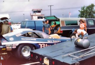 Blue Max Harry Schmidt Raymond Beadle 1974 Ford Mustang II Funny Car