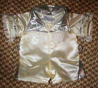 Build A Bear Workshop White Silver Elvis Presley Outfit Costume Fringe