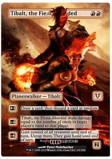 MTG Tibalt The Fiend Blooded ft Chandra Sexy Foil Altered Art