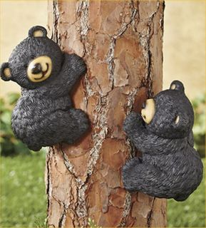 Climbing Bears Tree Decor Yard Art Lodge Cabin Country Decoration