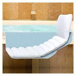 Full Body Bathtub Lounger Bath Tub Body Head Back Pillow Relax Comfort