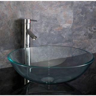 Bathroom Vanity Clear Glass Bath Vessel Sink Bowl Basin
