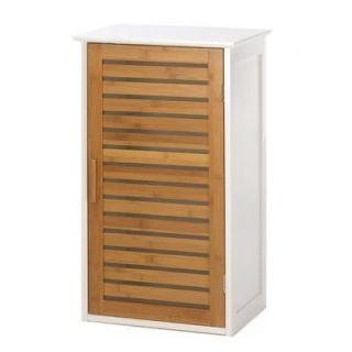Wood Shelf Wall Mount Hanging Bathroom Bath Storage Cabinet