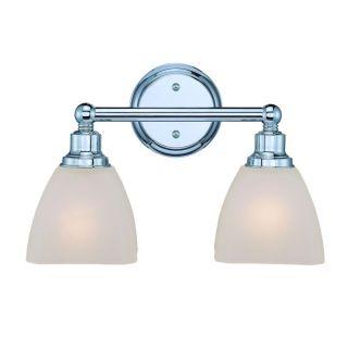 New 2 Light Bathroom Vanity Lighting Fixture Chrome Square Amber Tone