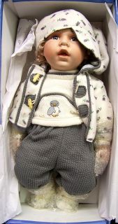 Jaar Baby Boy Porcelain Doll 21 Inches Tall Cathay Collection