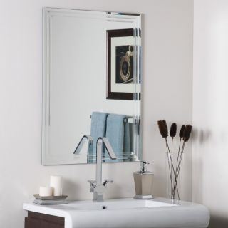 Frameless Bathroom Tri Bevel Wall Mirror Hall Designer