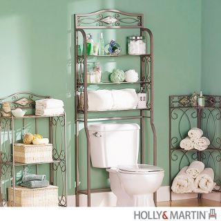 ISABELLA Bath SPACESAVER Over Toilet Storage Bathroom Cabinet HOLLY