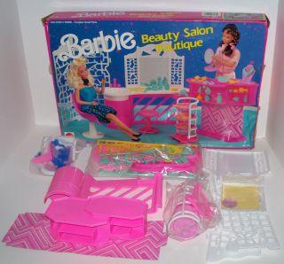 1990 Mattel Arco Toys Barbie Beauty Salon Boutique Playset 7275