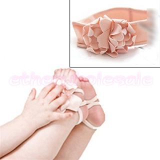 Set 1 Pair Gorgeous Baby Boy Girl Foot Flower Pram Shoes 1 Headband
