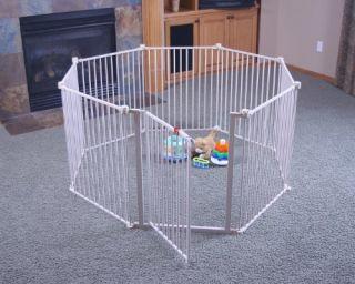 Regalo Baby Toddler Safety Superyard 4 in 1 Metal Gate Door Play Yard