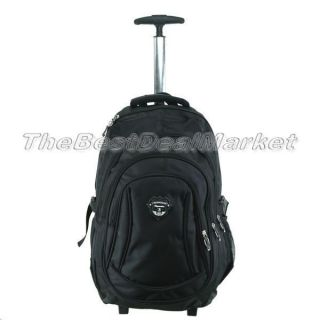 New 18 Rolling Backpack Wheeled College Travel Carry on Drop Handle