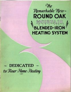 Beckwith Company Round Oak Stove Furnace Brochure