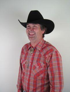 Bailey 20x Beaver Felt Black Cowboy Western Hat Sz 7 3 8