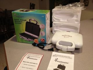 Easy Clean Waffle Baker Maker Waffle Iron Model 218 Excellnt