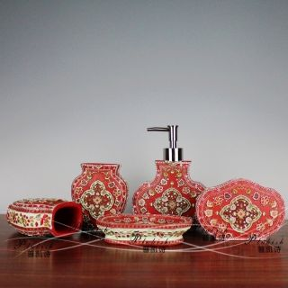 Pcs Bathroom Accessories Decoration Set Special Gifts Indian Style
