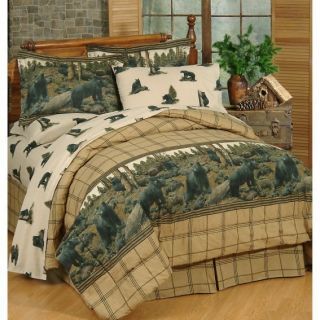 Twin Comforter Bed in A Bag Hunting Black Hills Bear Cabin Lodge Set