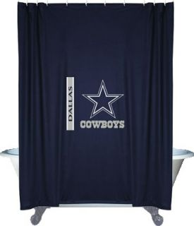 nEw NFL DALLAS COWBOYS Decorative SHOWER CURTAIN   Football Bathroom
