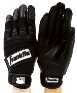 Player Classic II Leather Pro Batting Gloves Black Adult 10711F