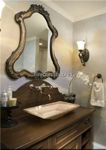 Large 43 Shaped Arch Wall Mirror Vaniy Anique Ornae Horchow Unique