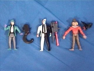 Batman TAS Animated Series Figures Lot The Riddler Two Face Scarecrow
