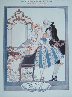 Art Deco Original Print Vie Parisienne 1922 G Barbier